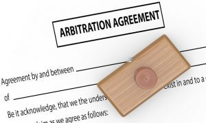 An Arbitration Agreement form