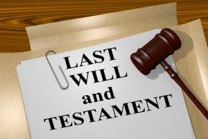 "A paper that says ""LAST WILL and TESTAMENT"""
